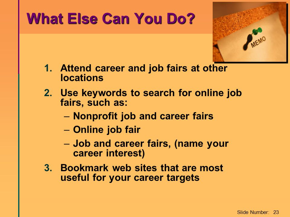 Slide Number: 23 What Else Can You Do. What Else Can You Do.