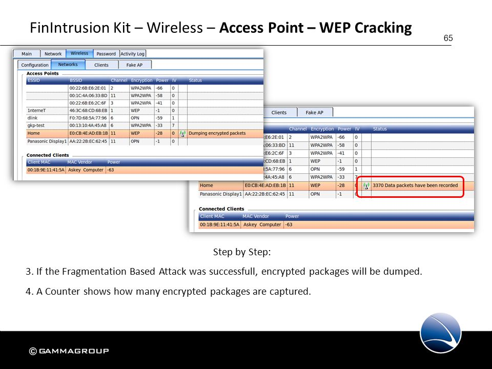 65 FinIntrusion Kit – Wireless – Access Point – WEP Cracking Step by Step: 3.