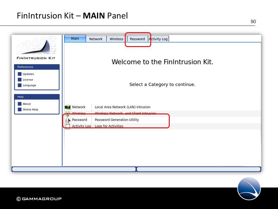 90 FinIntrusion Kit – MAIN Panel