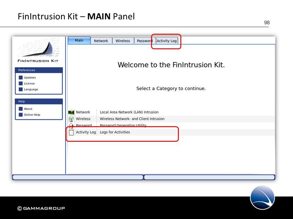 98 FinIntrusion Kit – MAIN Panel