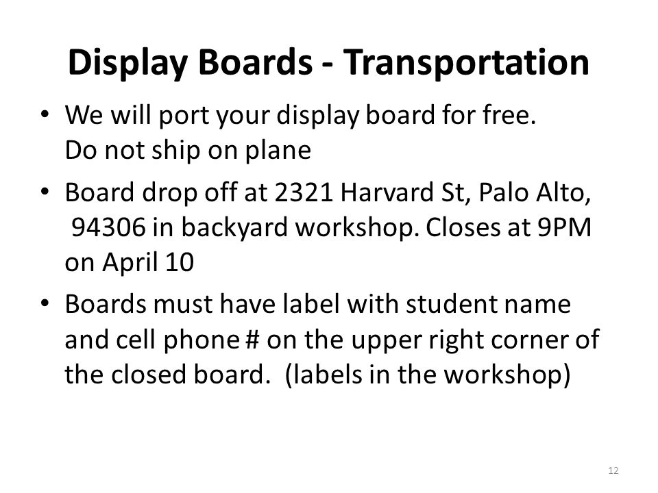 Display Boards - Transportation We will port your display board for free.