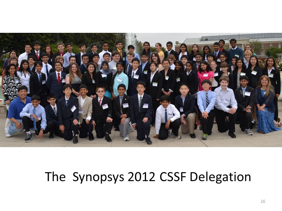 The Synopsys 2012 CSSF Delegation 26