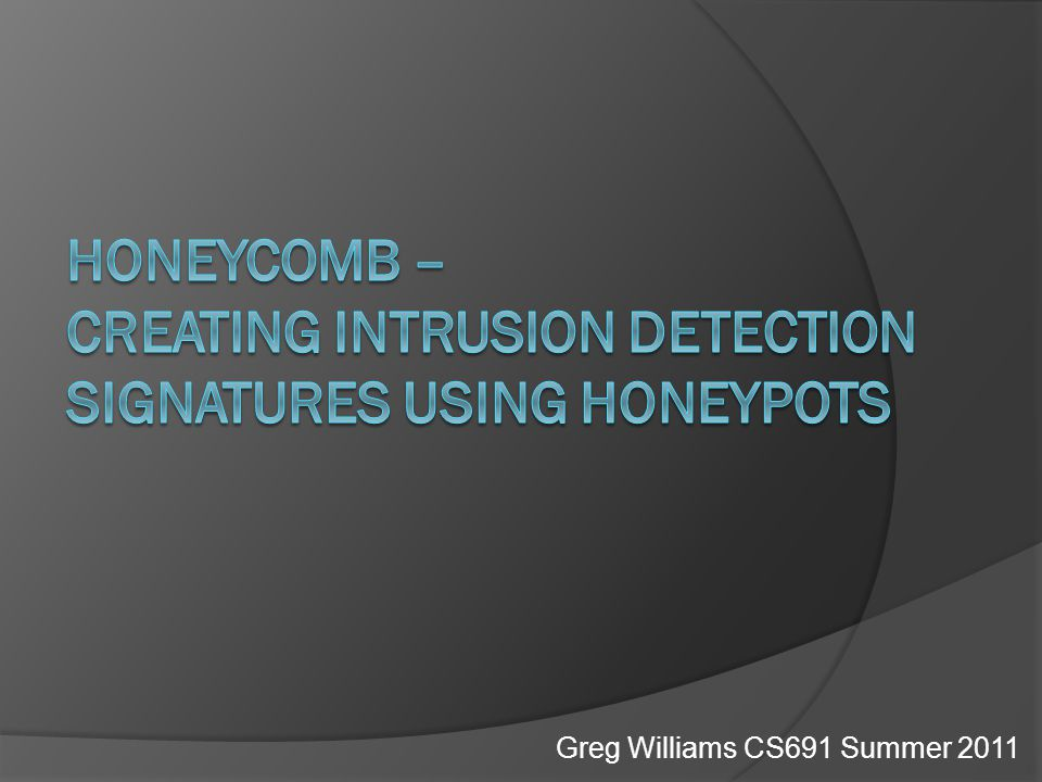 Honeycomb  Introduction  Preceding Work  Important Points  Analysis  Future Work