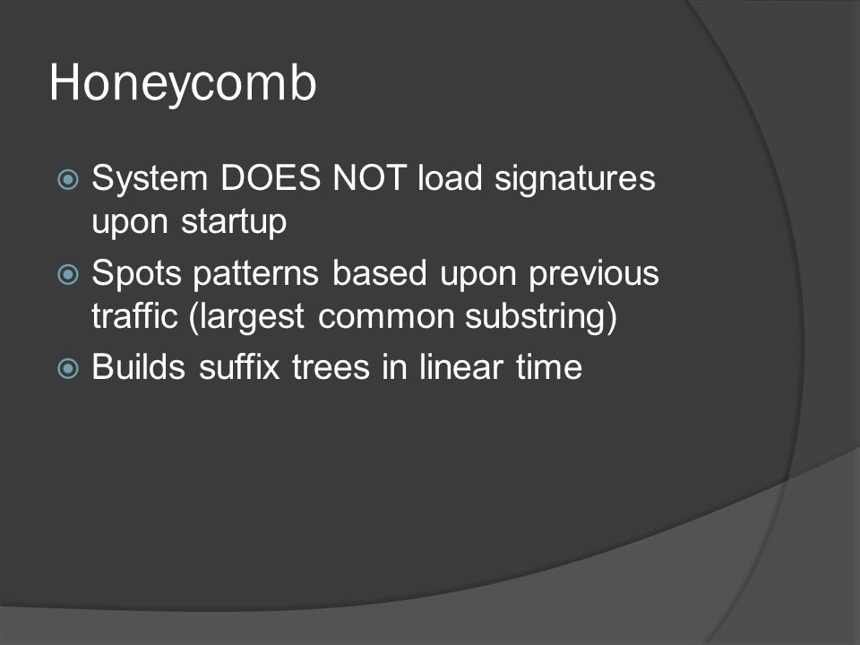 Honeycomb - Testing