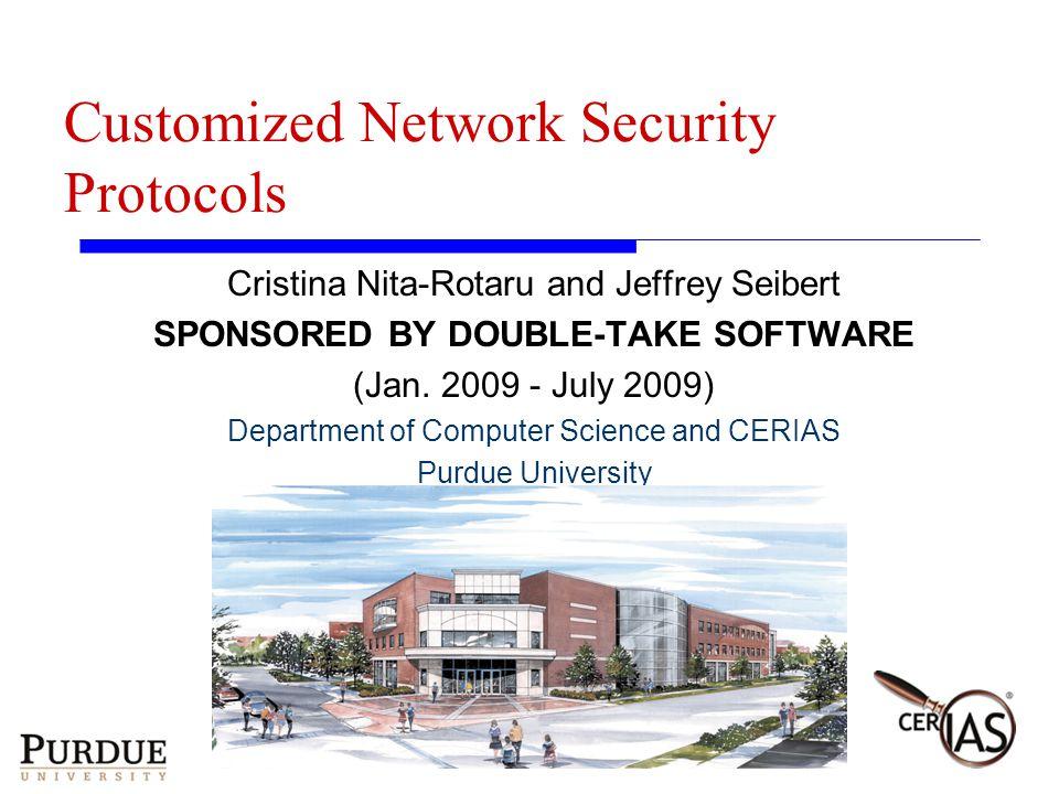 Jeffrey SeibertSERC Fall 2009 Showcase23 Confidentiality and Data Integrity:AES256 (WAN)