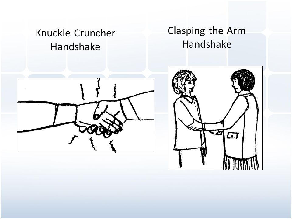 Knuckle Cruncher Handshake Clasping the Arm Handshake