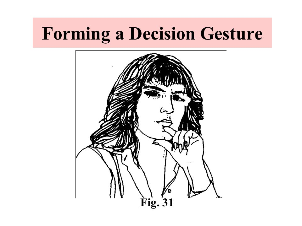Forming a Decision Gesture Fig. 31