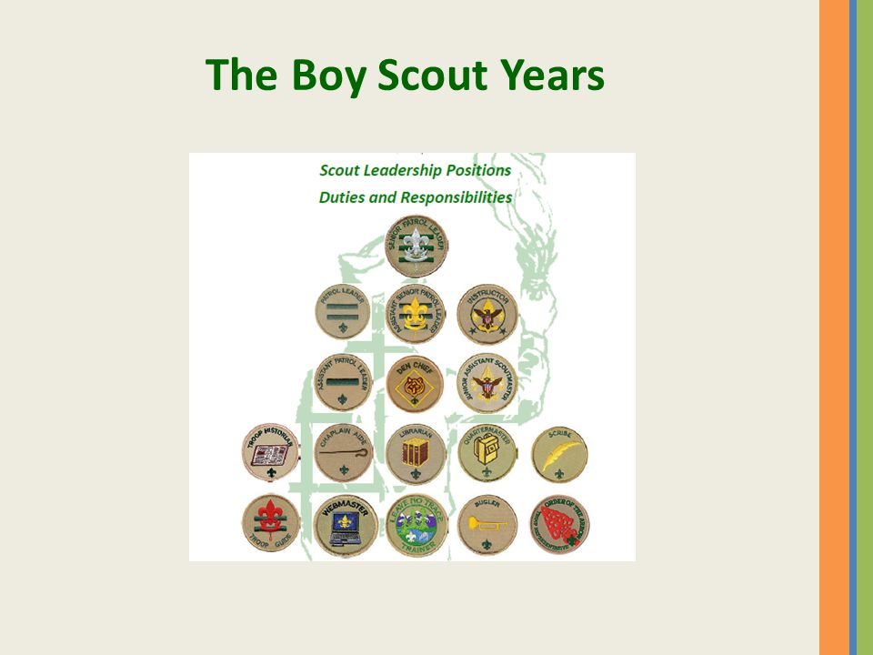 The Boy Scout Years