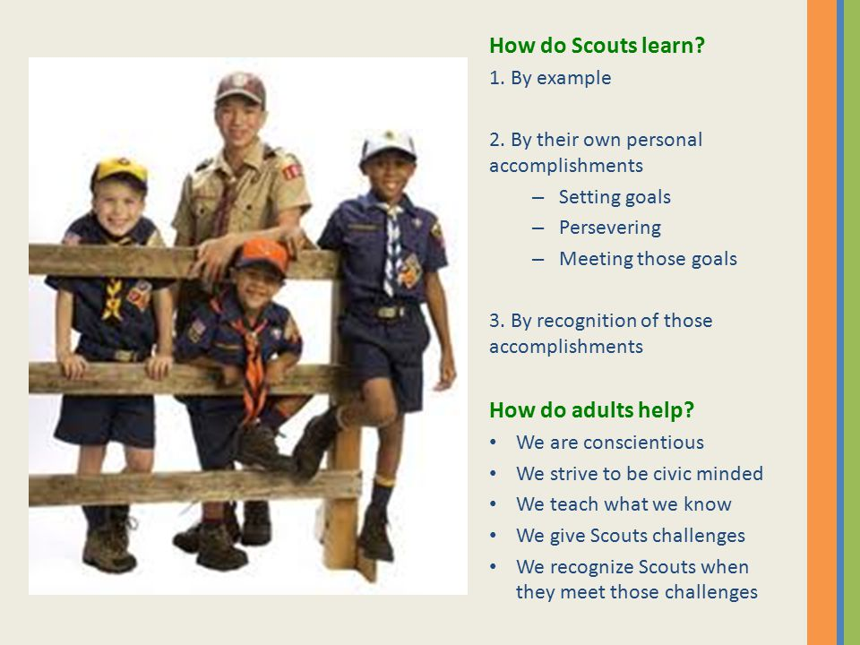 Troop Events Organized by Patrol Planned at monthly Greenbar meetings Patrol Leaders (or their assistants) Plan and run their patrol Assign duties to patrol members Prepare duty roster Patrol Leader Parents Help implement the plan Help with food purchases Organize carpooling