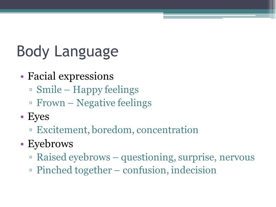 Body Language Cont.