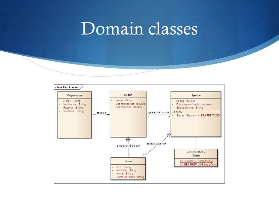 Domain classes