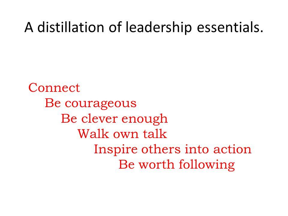A distillation of leadership essentials.