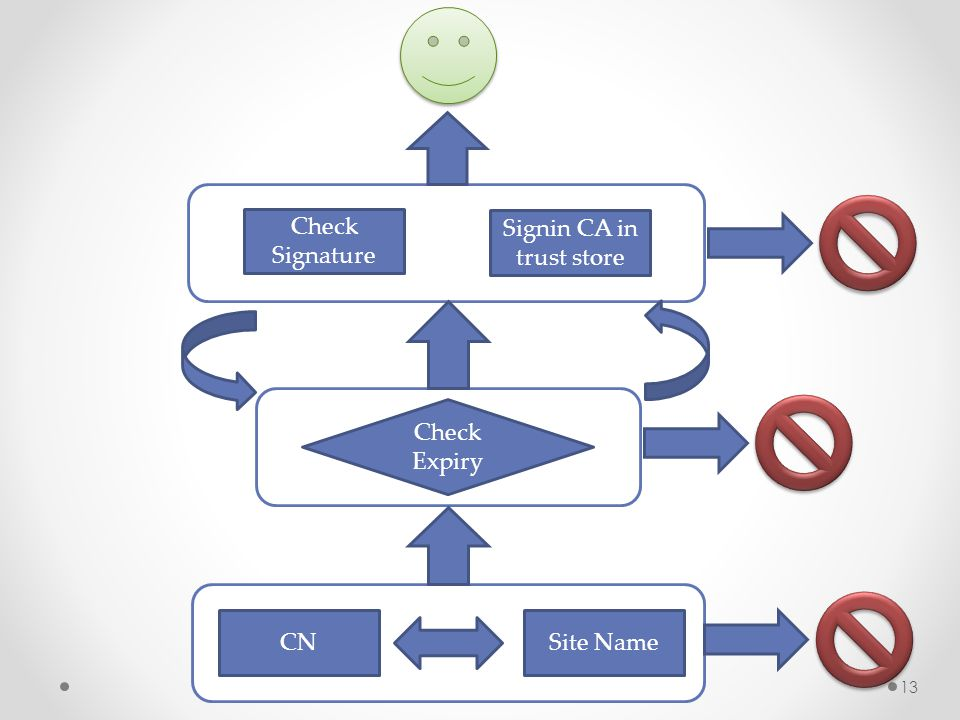 Site NameCN Check Expiry Check Signature Signin CA in trust store 13