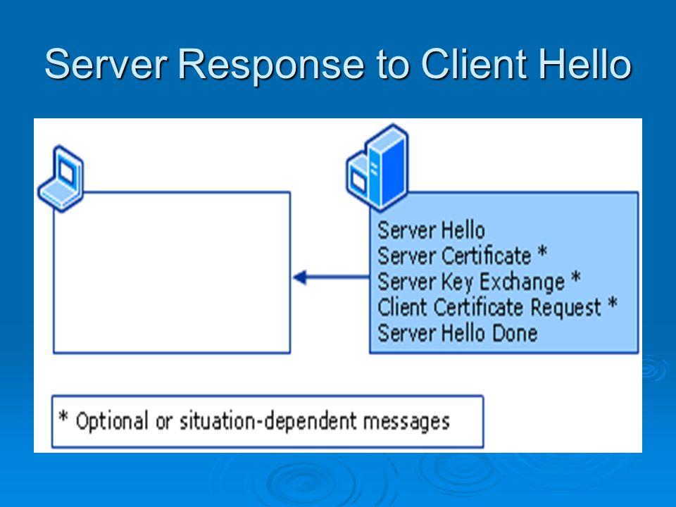 Server Response to Client Hello