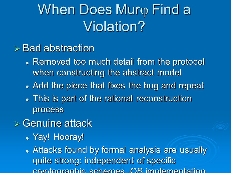 When Does Murj Find a Violation.
