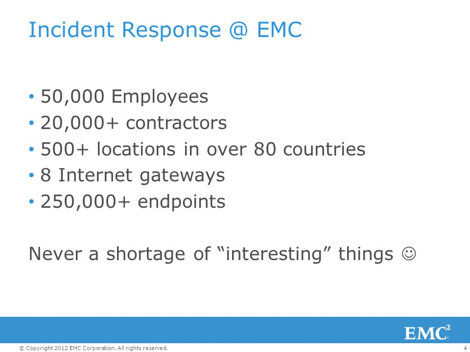 15© Copyright 2012 EMC Corporation.All rights reserved.