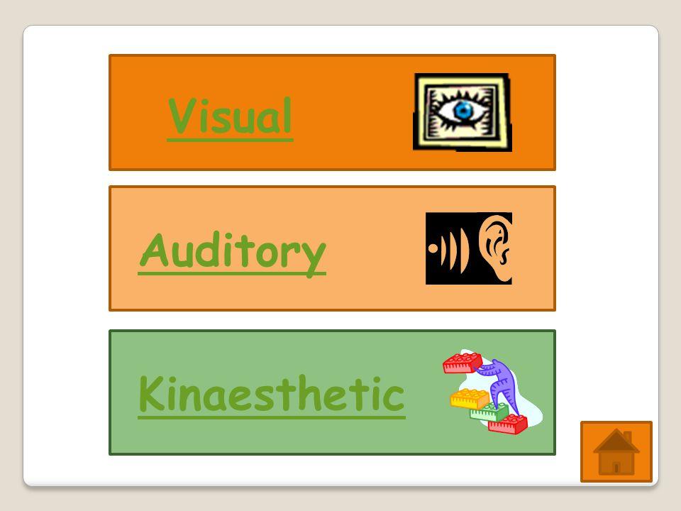 Visual AuditoryKinaesthetic