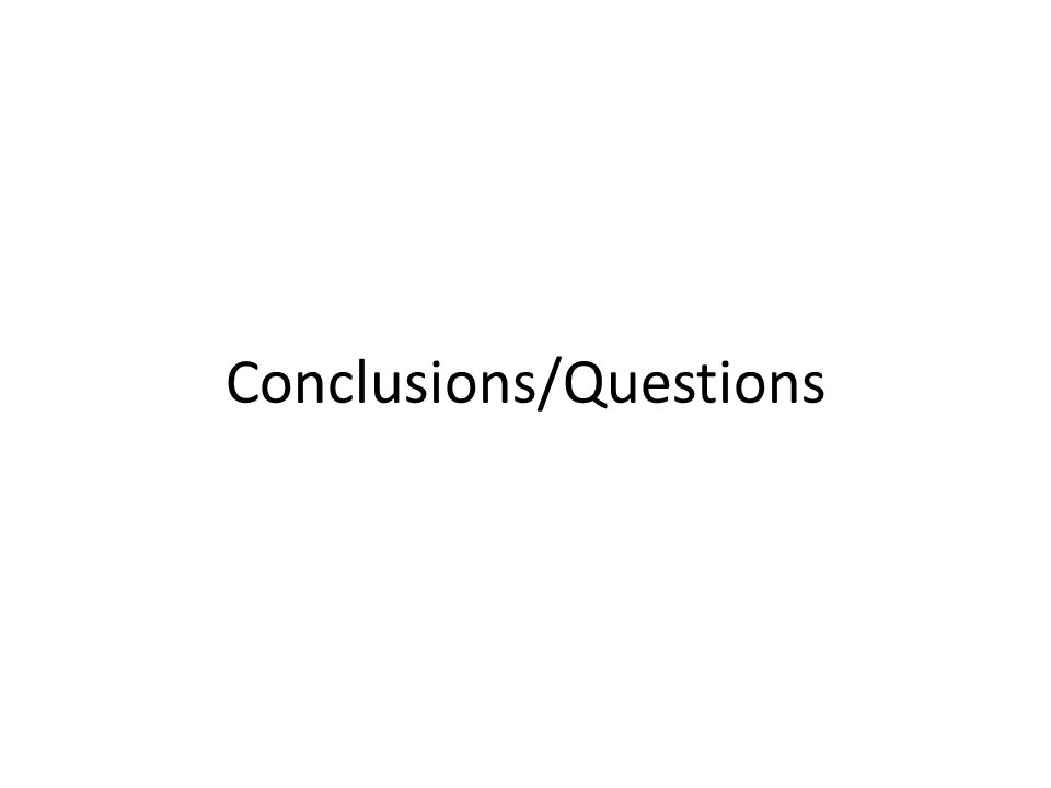 Conclusions/Questions