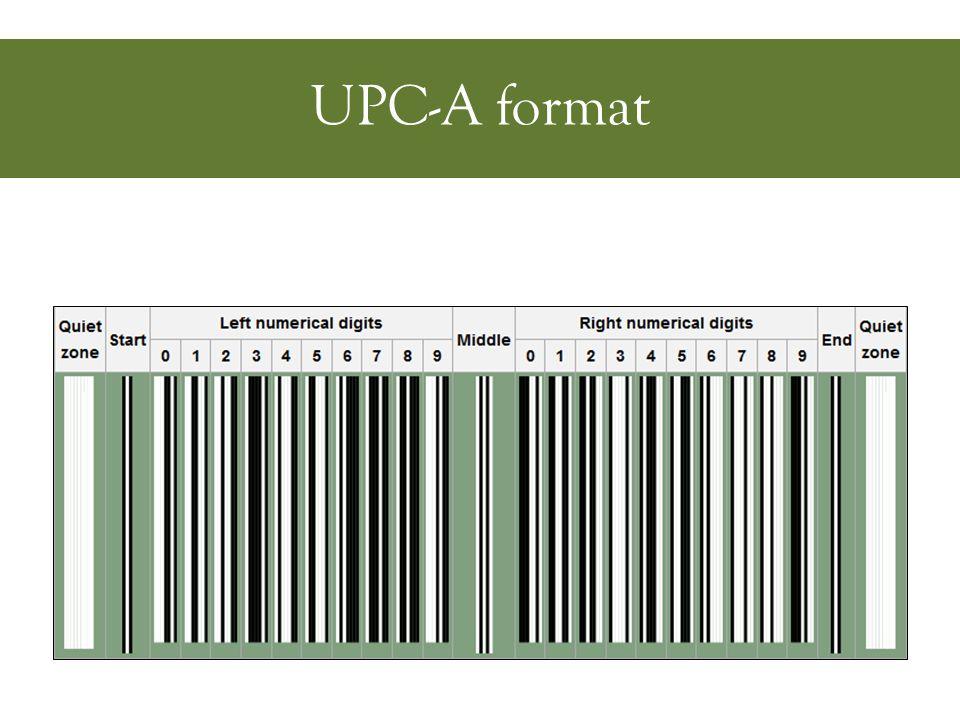 UPC-A format