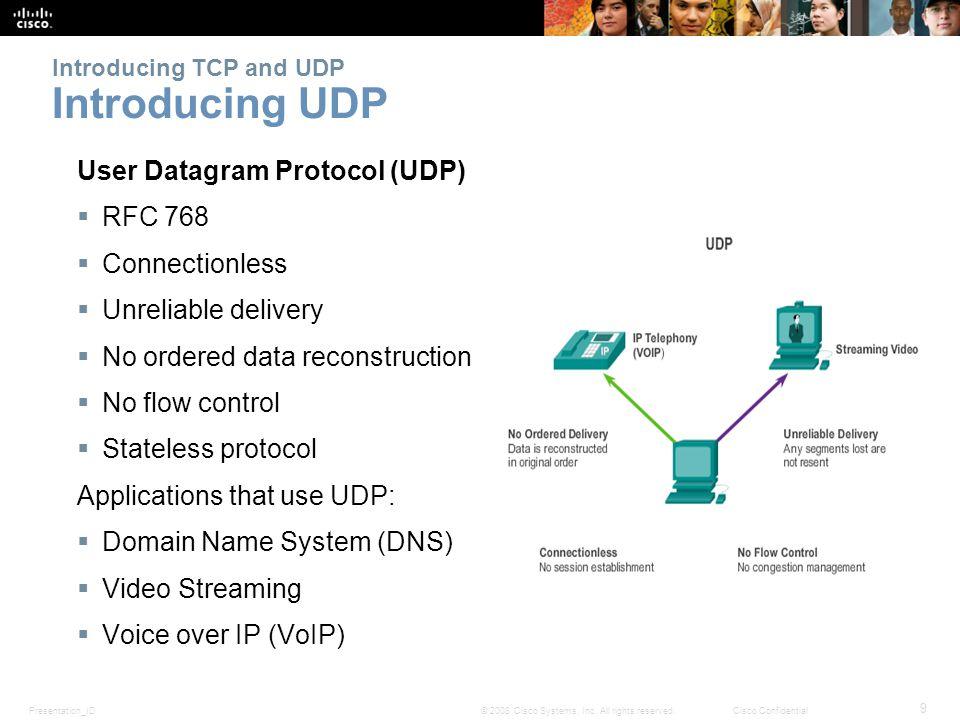 Presentation_ID 30 © 2008 Cisco Systems, Inc.