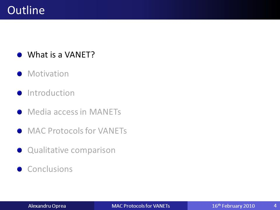 What is a VANET.