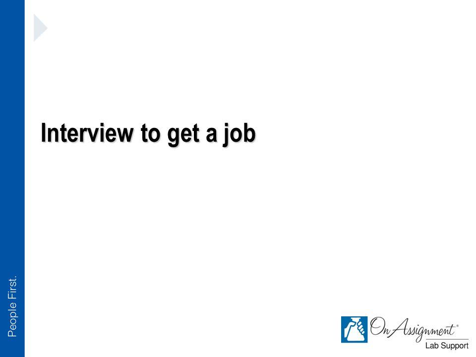 Interview to get a job