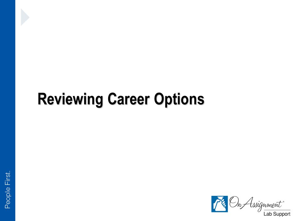 Reviewing Career Options
