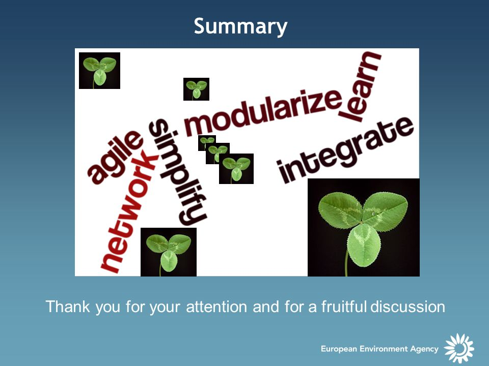 Summary Thank you for your attention and for a fruitful discussion