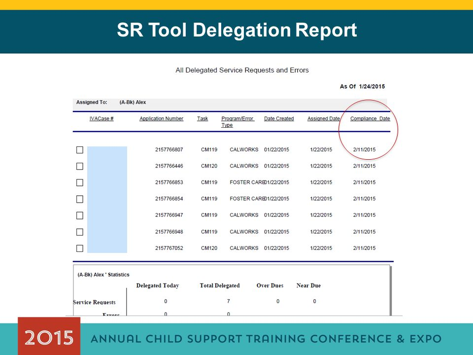 SR Tool Delegation Report
