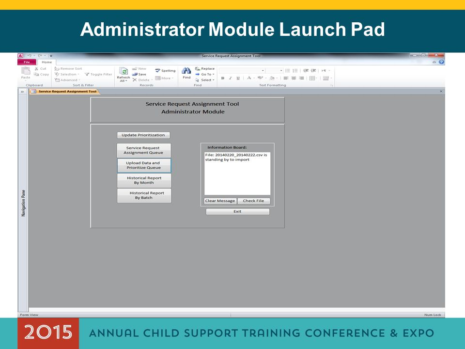 Administrator Module Launch Pad