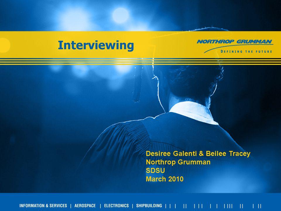 Interviewing Desiree Galenti & Beilee Tracey Northrop Grumman SDSU March 2010
