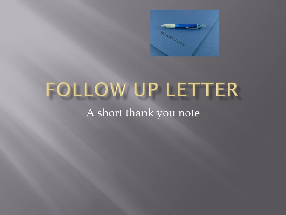 A short thank you note