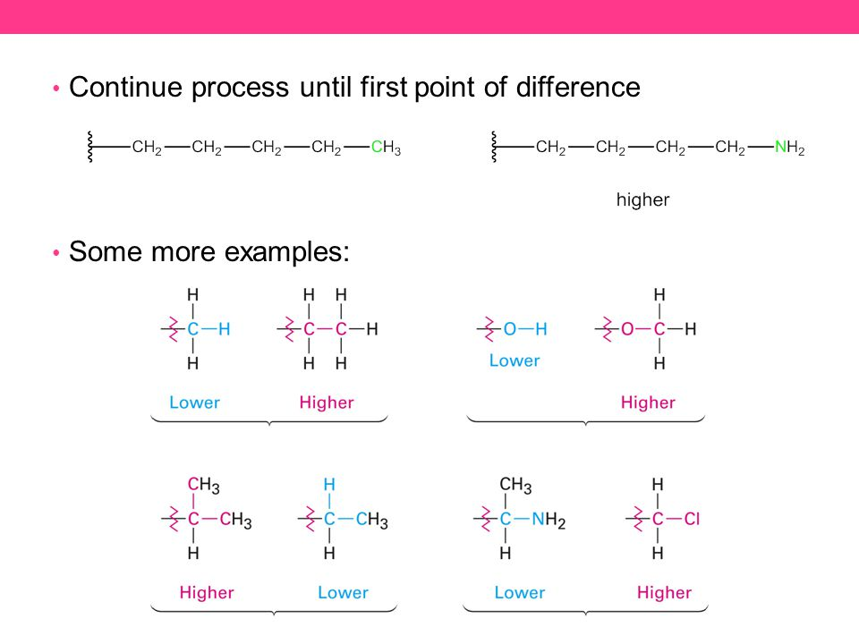 Continue process until first point of difference Some more examples: