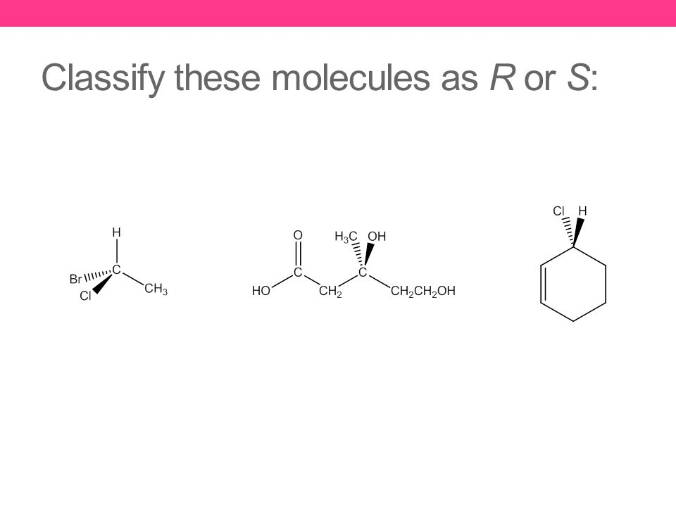 Classify these molecules as R or S: