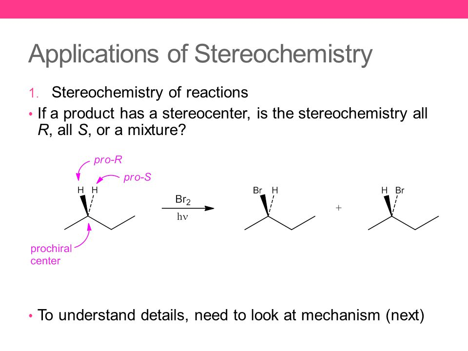 Applications of Stereochemistry 1.