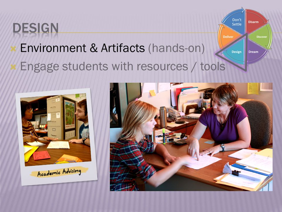  Environment & Artifacts (hands-on)  Engage students with resources / tools