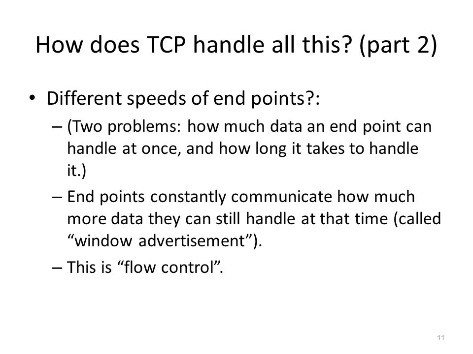 How does TCP handle all this.