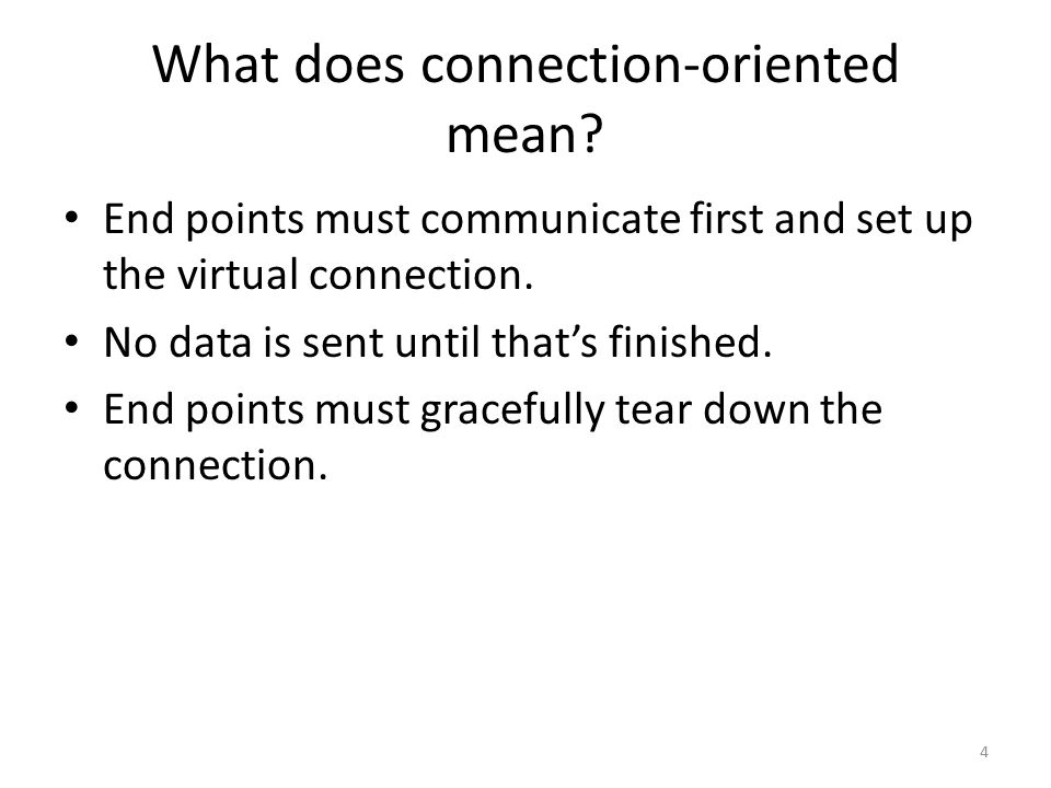 What does connection-oriented mean.