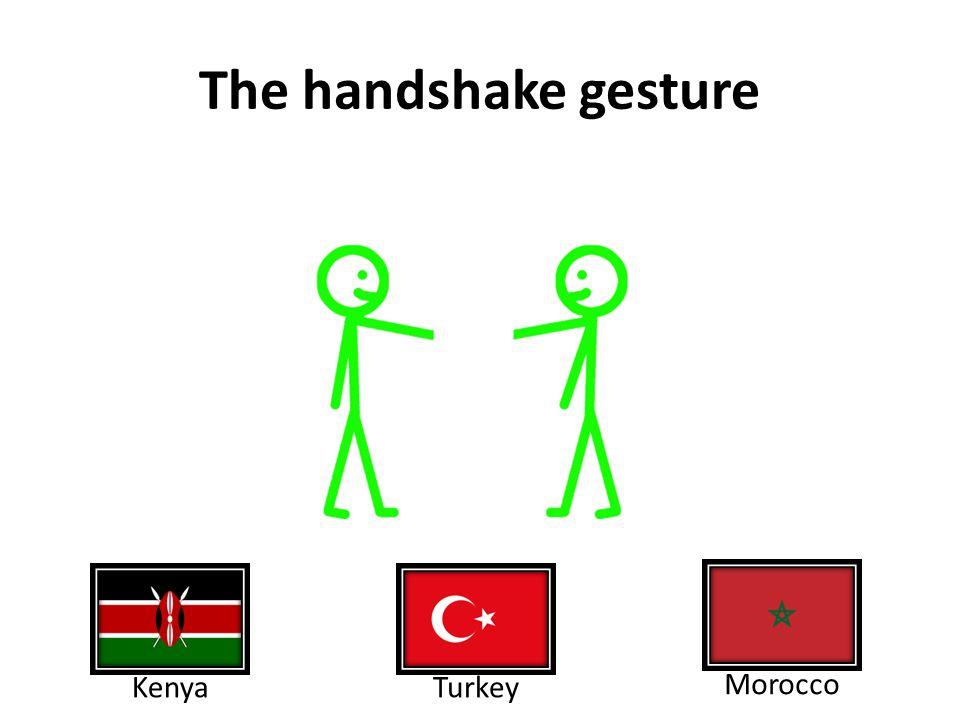 The handshake gesture KenyaTurkey Morocco