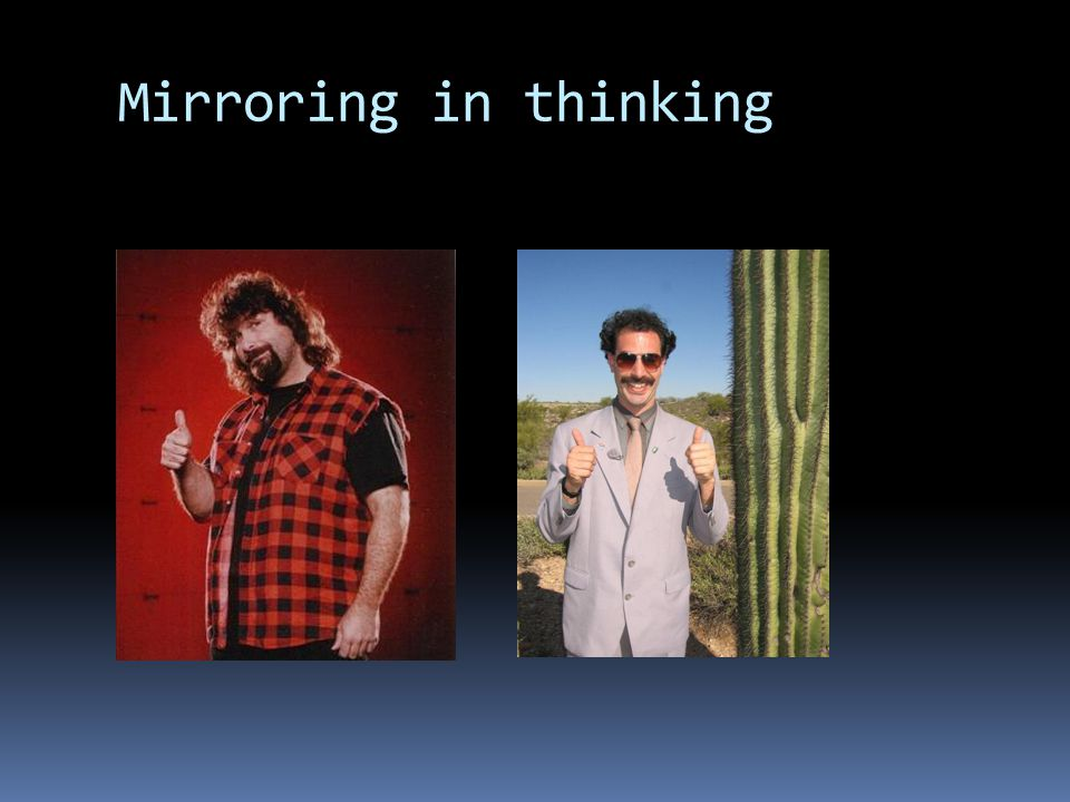 Mirroring in thinking