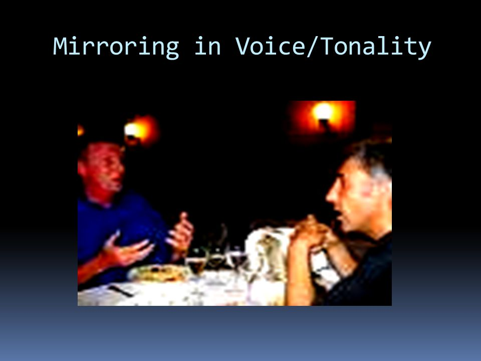 Mirroring in Voice/Tonality