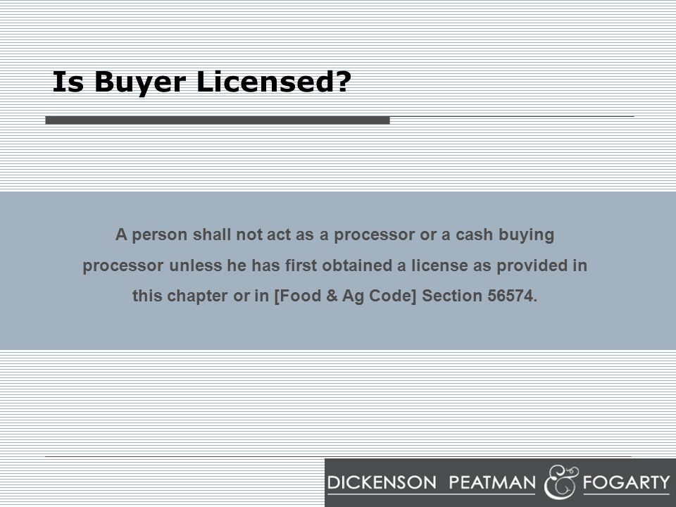 Is Buyer Licensed.