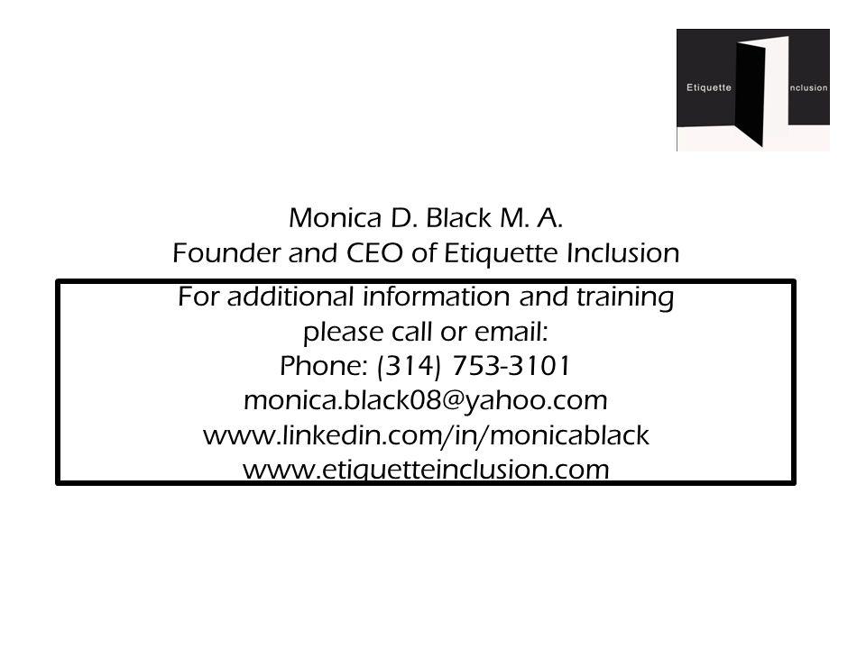 Monica D. Black M. A.