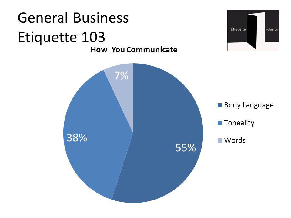General Business Etiquette 103