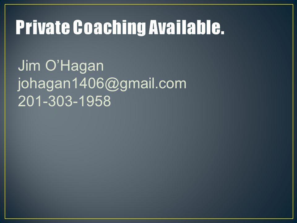 Jim O'Hagan johagan1406@gmail.com 201-303-1958