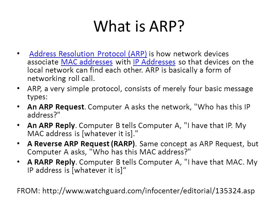 What is ARP.