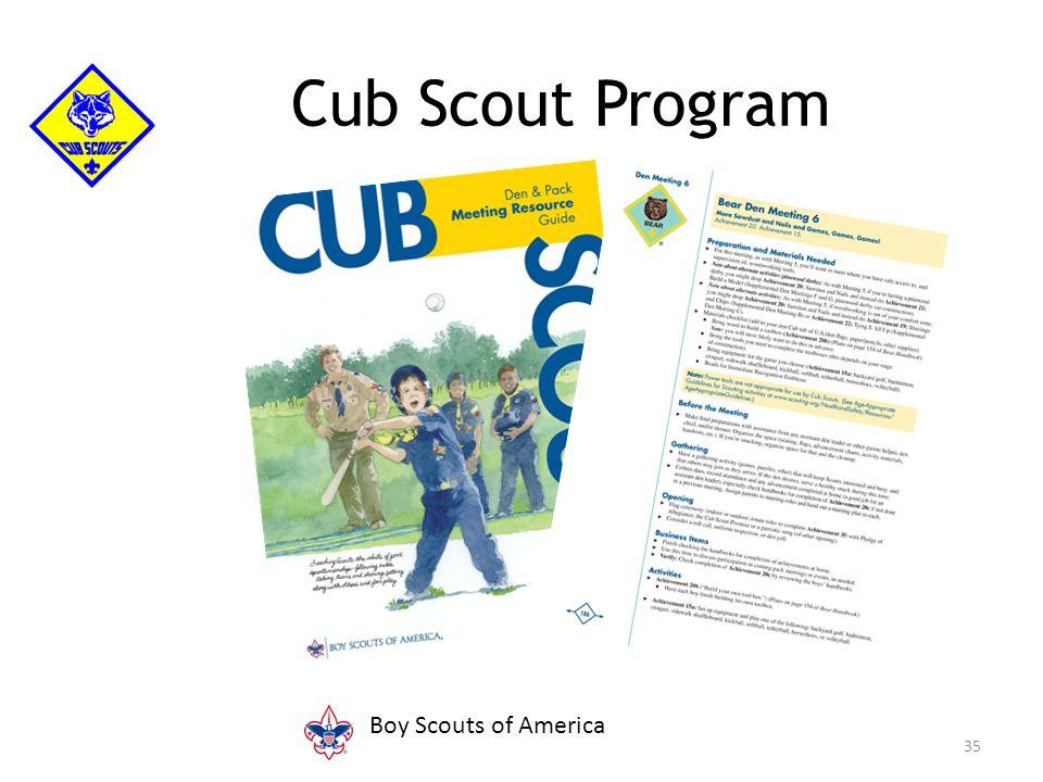 35 Cub Scout Program FPO Boy Scouts of America