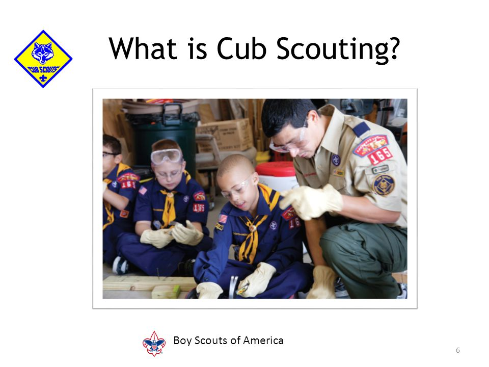 6 What is Cub Scouting Boy Scouts of America
