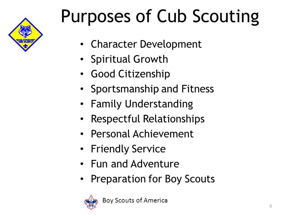 Character Development Spiritual Growth Good Citizenship Sportsmanship and Fitness Family Understanding Respectful Relationships Personal Achievement F