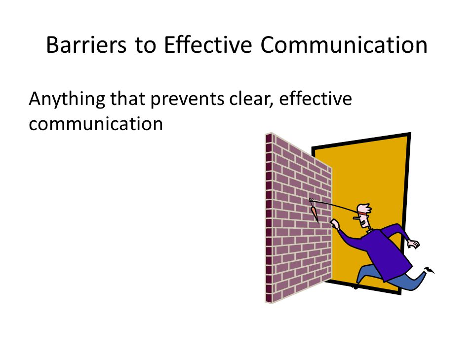Barriers to Effective Communication Anything that prevents clear, effective communication